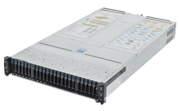 FlashServer 2Ux4 Provides 4 Servers in one 2U enclosure each with up to 18 cores and 6 HDD/SSD drives