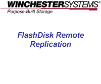 How to video demonstrates the powerful, yet simple steps to setting up a remote replication site using FlashDisk RAID Disk Arrays.  Now there is no reason do without a remote site for your data protection!